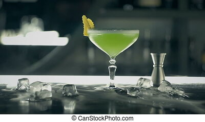 barre, vert, cocktail