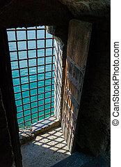 Barred Castle Doorway