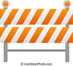 barreira estrada, ícone