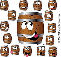 barrel cartoon