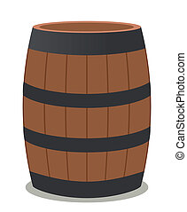 barrel of wood and steel for wine