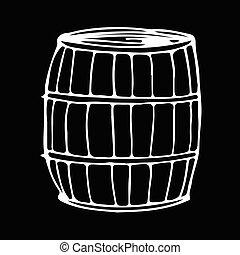 barrel hand draw doodle illustration design