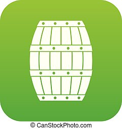 Barrel icon digital green for any design isolated on white...