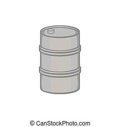 Barrel icon in black monochrome style