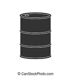Barrel. Icon in flat style. Isolated on white background.