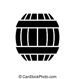 barrel icon, vector illustration, black sign on isolated background