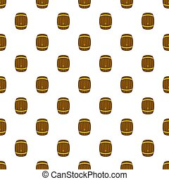 Barrel of beer pattern, cartoon style