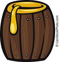 barrel of honey clip art cartoon illustration - Cartoon...