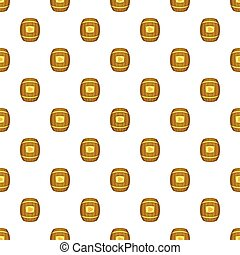 Barrel of honey pattern, cartoon style