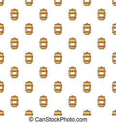 Barrel of honey pattern seamless
