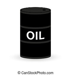 barrel of oil on a white background icon