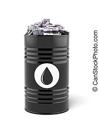Barrel of oil with euro