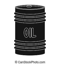 Barrel of oil.Oil single icon in black style vector symbol stock illustration web.