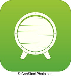 Barrel on legs icon digital green for any design isolated on...