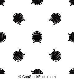Barrel on legs pattern seamless black - Barrel on legs...
