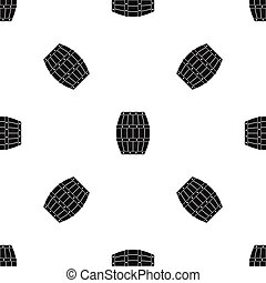 Barrel pattern seamless black - Barrel pattern repeat...
