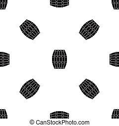 Barrel pattern seamless black - Barrel pattern repeat...