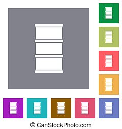 Barrel square flat icons
