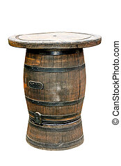 Barrel table isolated