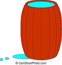 barrel, vector illustration