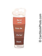 Barrel Wine and Pale Ale Vector Illustrartion. - Barrel...