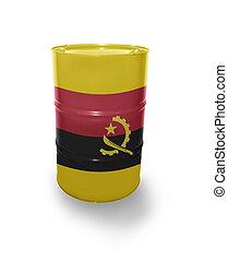 Barrel with Angolan flag