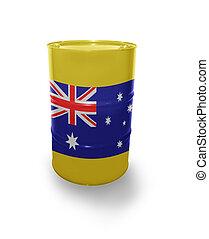 Barrel with Australian flag