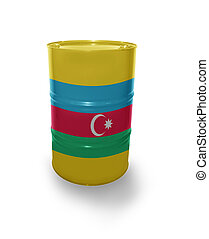 Barrel with Azerbaijan flag