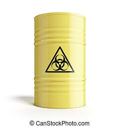 Barrel with biohazard symbol