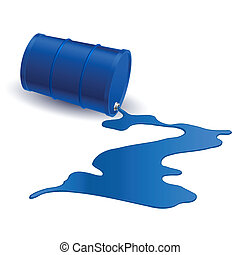 Barrel with blue liquid