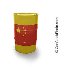 Barrel with Chinese flag