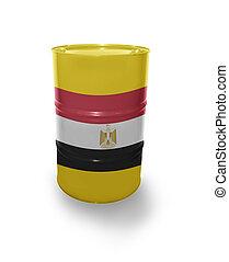 Barrel with Egyptian flag