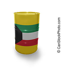 Barrel with  flag