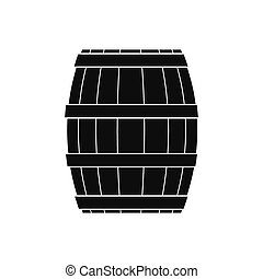 Barrel with honey black simple icon