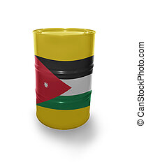 Barrel with Jordan flag