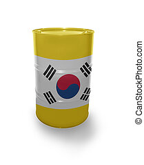 Barrel with Korean flag