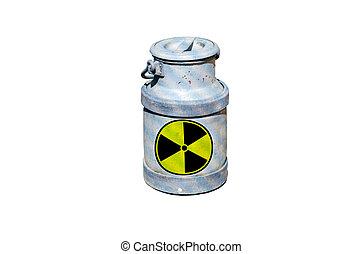 Barrel with nuclear waste barrel of radioactive waste