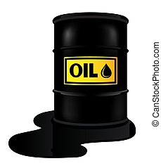 Barrel with oil
