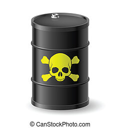 Barrel with poisonous substances