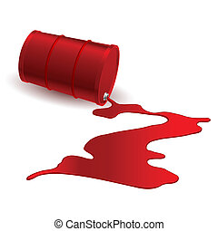 Barrel with red liquid