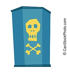 Barrel with skull and bones vector illustration.