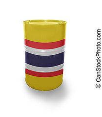 Barrel with Thailand flag