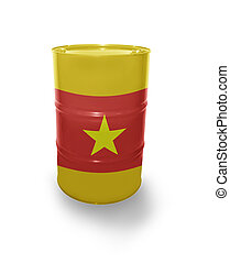 Barrel with Vietnamese flag