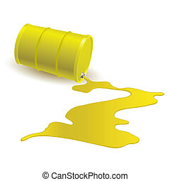 Barrel with yellow liquid