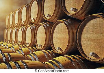 Barrels closeup