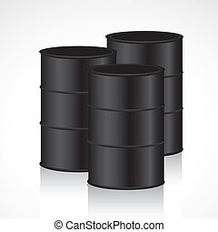 barrels isolated on black