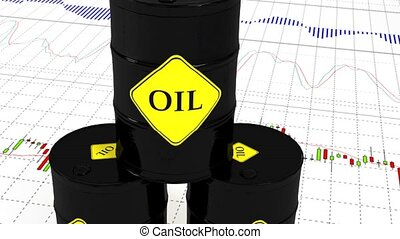 Barrels of oil on the stock market. 47