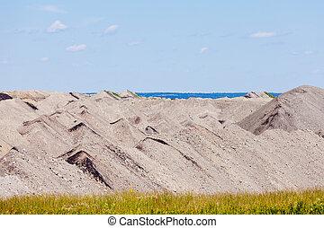 Barren coalmine tailing mining industrial abstract - Coal...