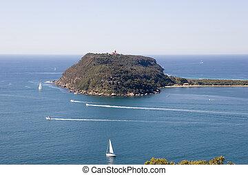 Barrenjoey headland with lighthouse