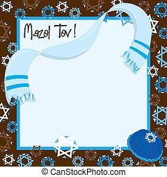 barrer mitzvah, fête, invitation